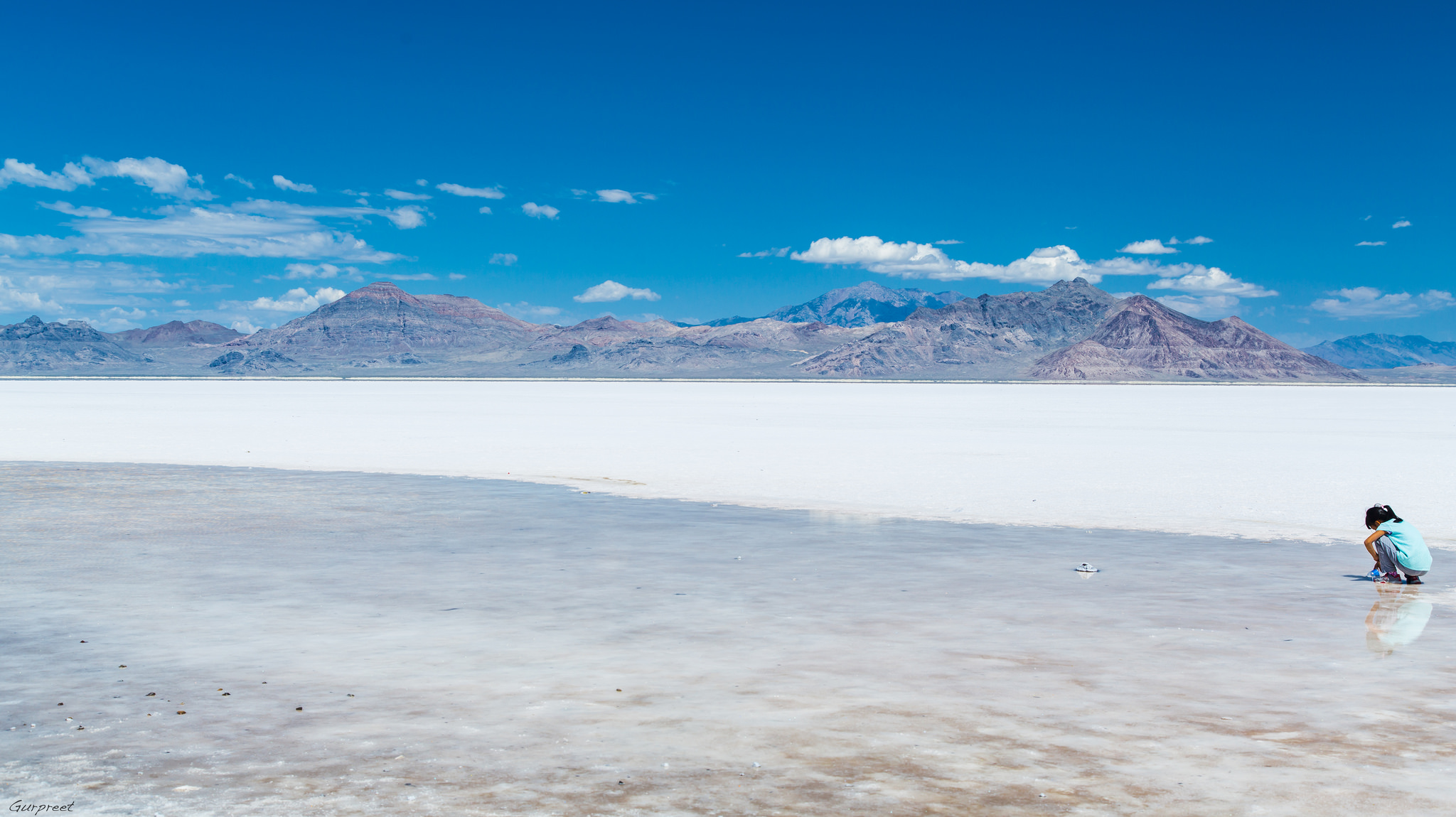 Bonneville Salt Flats, Utah.  (Photo by  GPS )