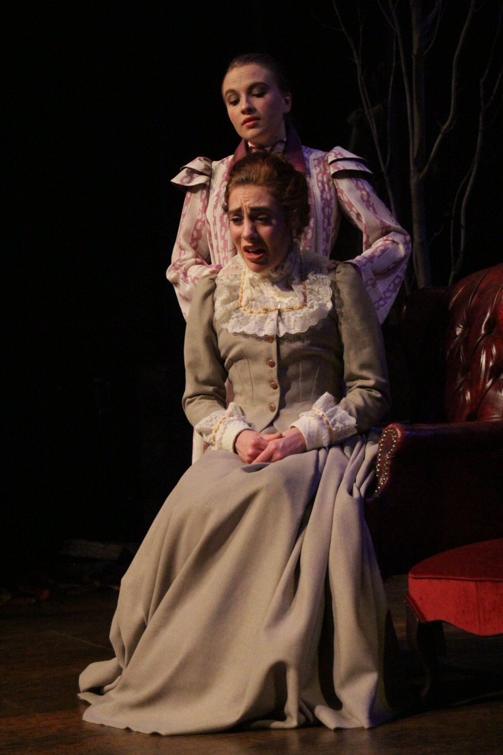Hedda Gabler , by Henrik Ibsen, translation by Michael Meyer. Directed by Dr. Doug Paterson. University of Nebraska at Omaha College of Communication, Fine Arts and Media.  Photo by Steven Williams .