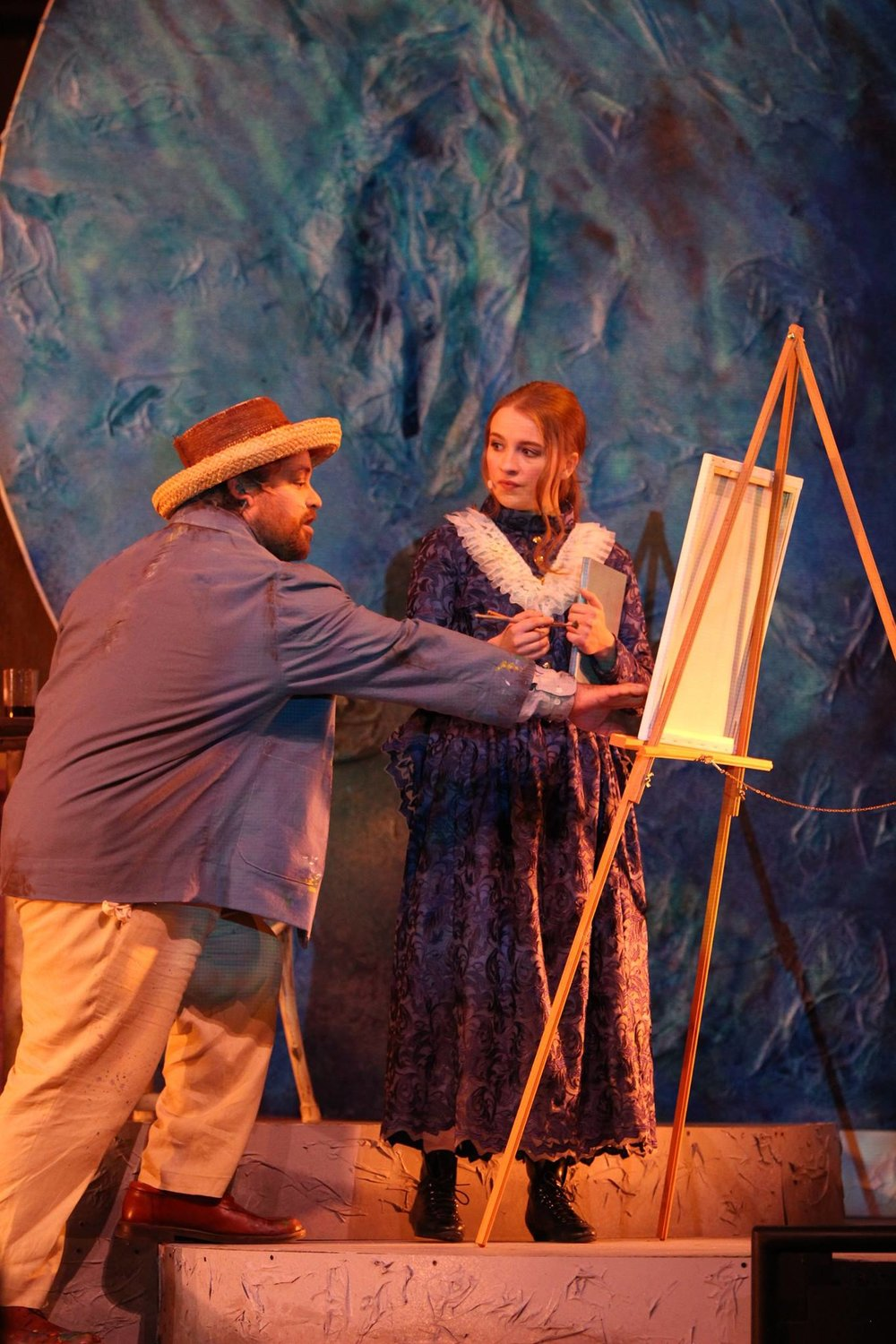 Van Gogh & Me , by Matt Gutschick. Directed by John Hardy. Omaha Theatre Company, The Rose Theater.  Photo by Alex Myhre .