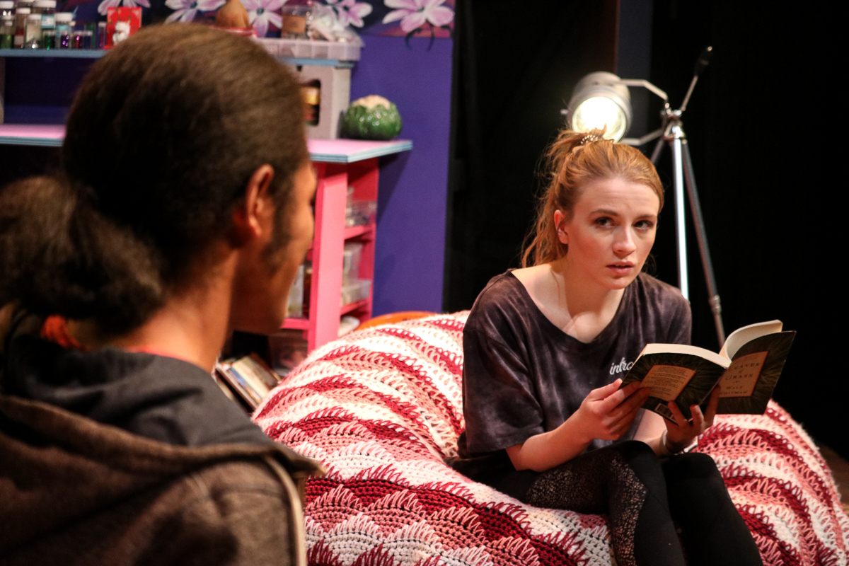I and You , by Lauren Gunderson. Directed by Barry Carman. BLUEBARN Theatre. Photo by Analisa Peyton.