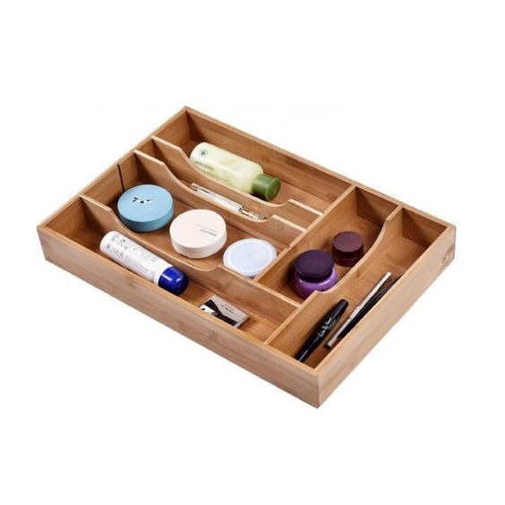 Welland Expandable Bamboo Drawer Organizer with Adjustable Dividers $21.99