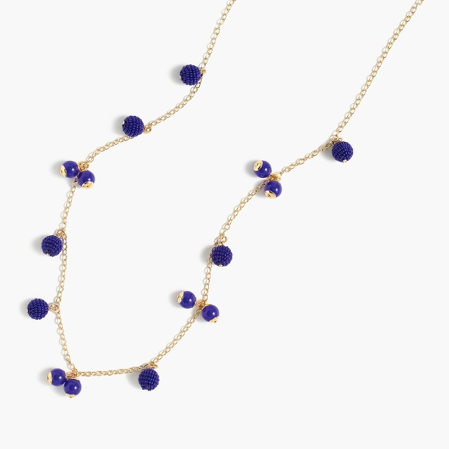 Save: J Crew beaded ball necklace $39 ( plus currently 30% off)