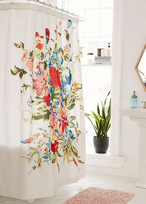 Urban Outfitters- Romantic Floral Scarf Shower Curtain $49