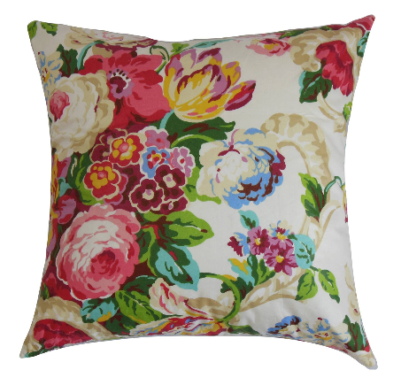 Target- Red Bright Spring Floral Throw Pillow $49.99