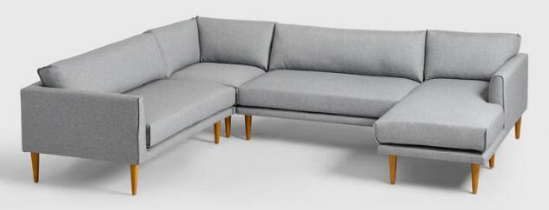 World Market- Gray Nica Sectional Sofa Collection $1700