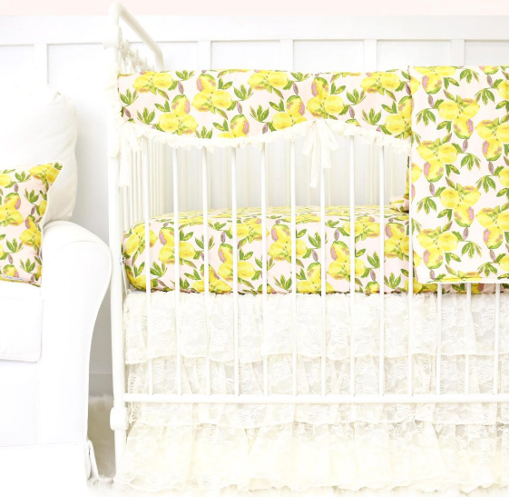 Caden Lane- Sweet Lemon Crib Sheet $48