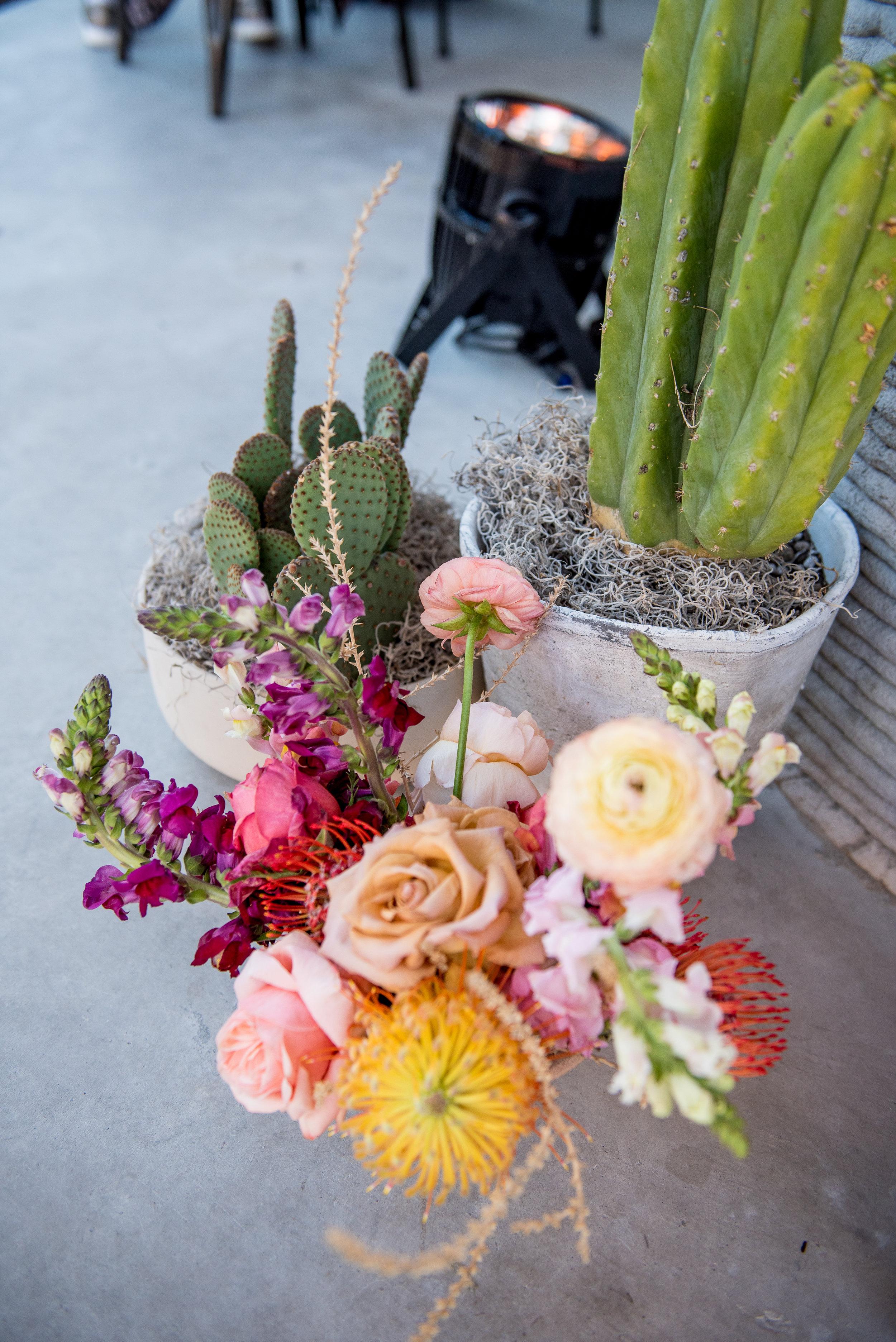cactus flower arrangement