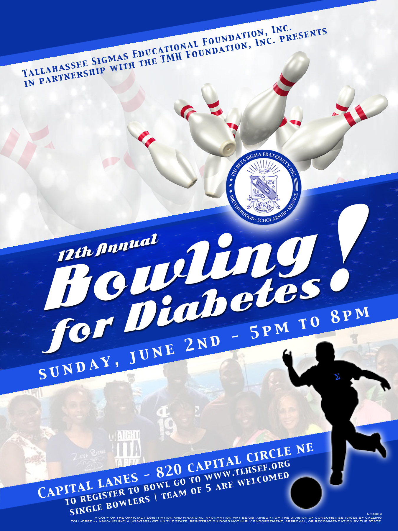 2019 Bowling for Diabetes Flyer