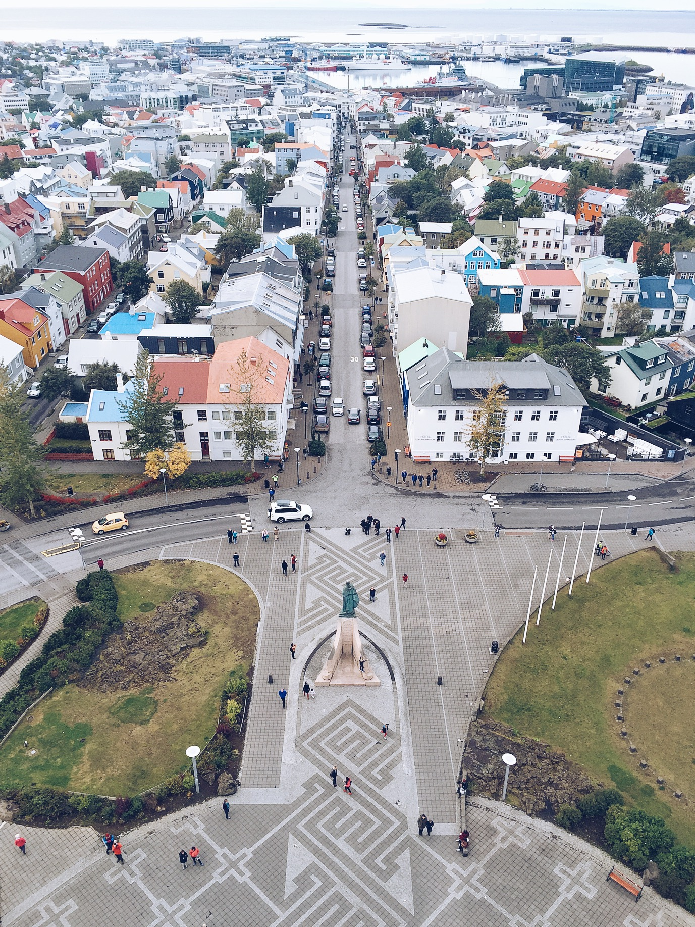The view from the top of Hallgrímskirkja