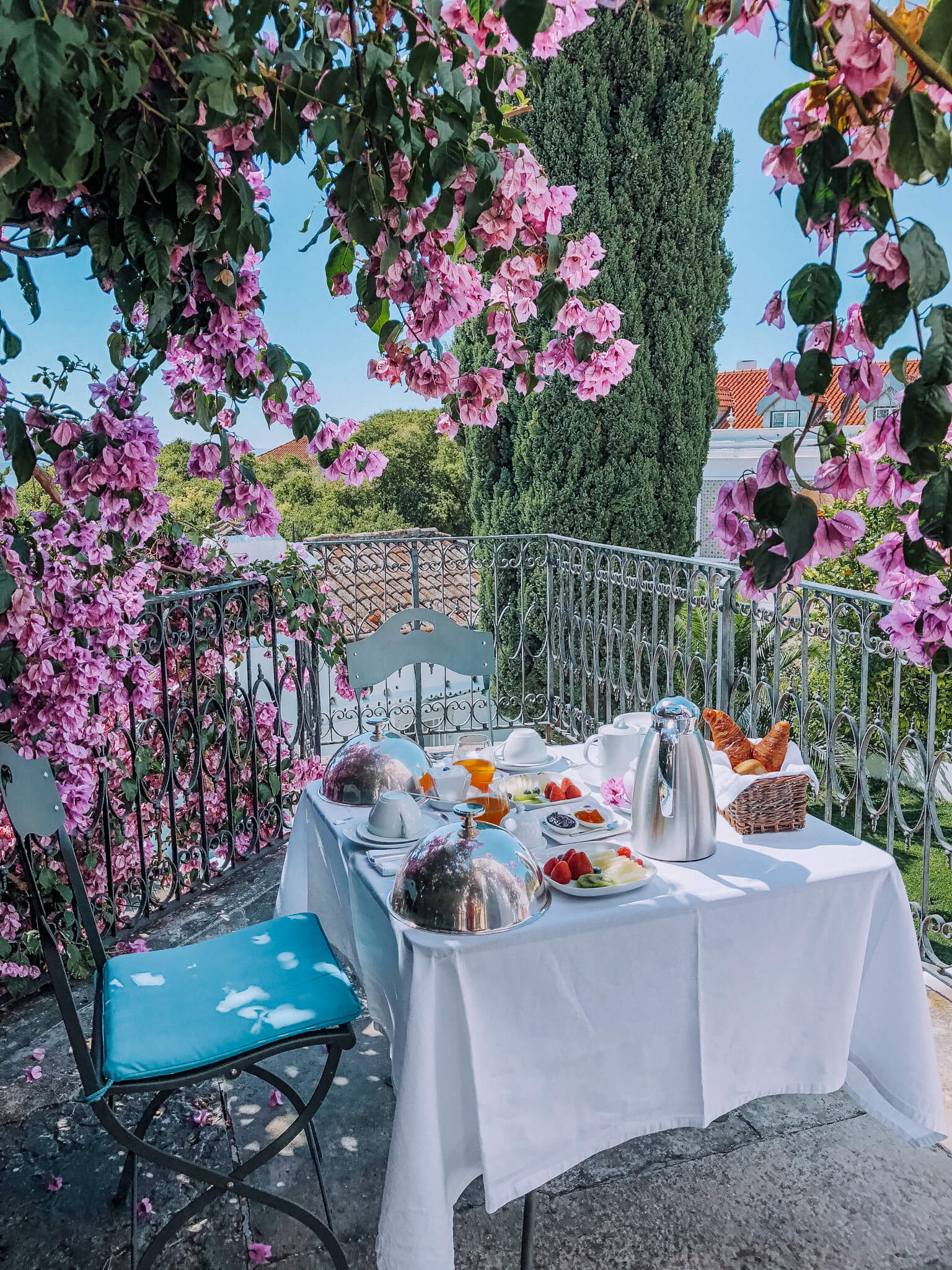 Our favorite place to have breakfast - on our private patio.