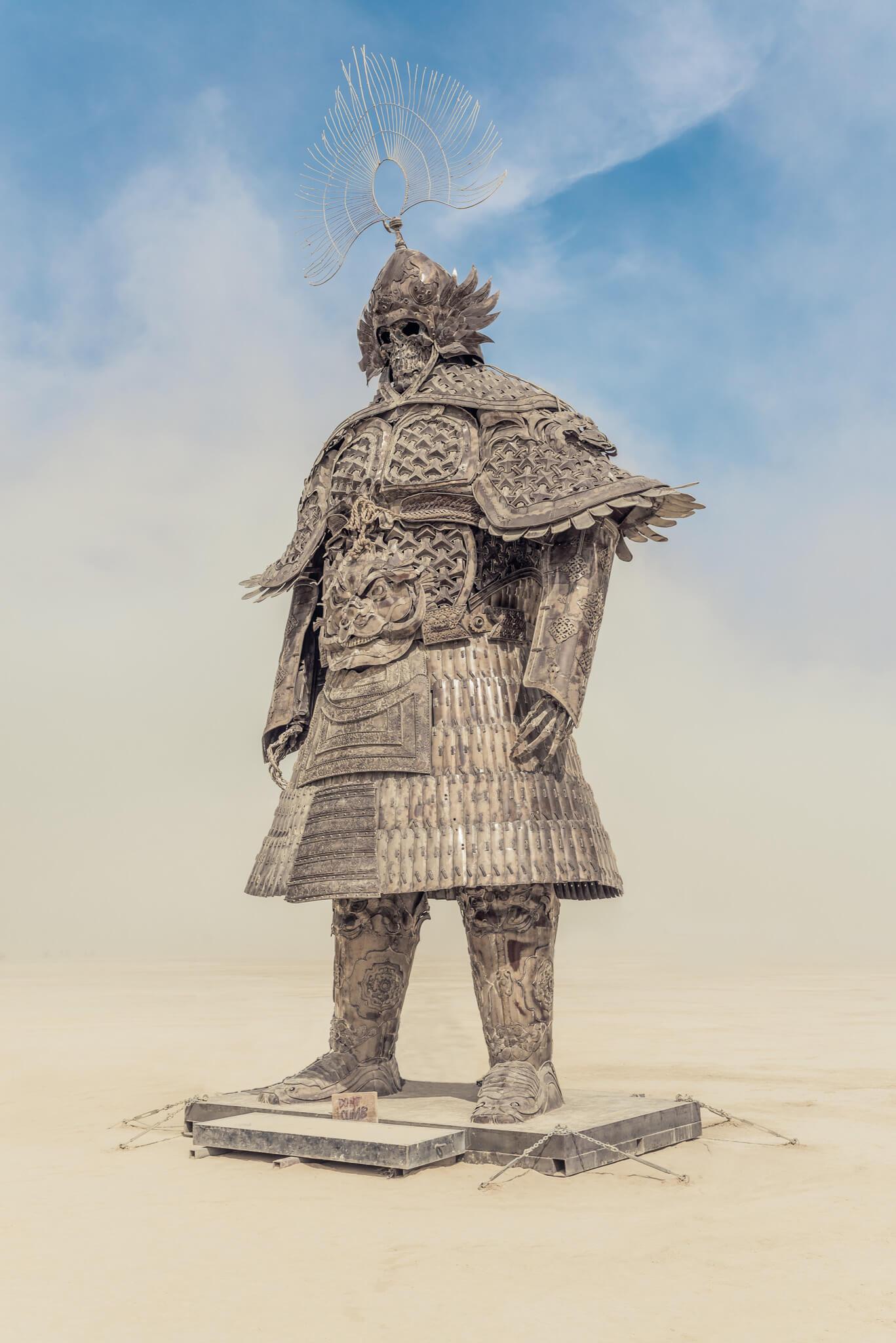 stunning art samurai burning man 2018