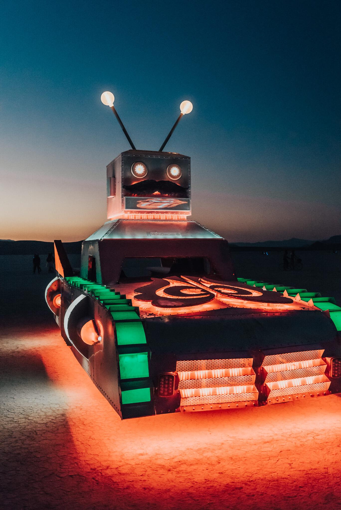 robot car burning man 2018