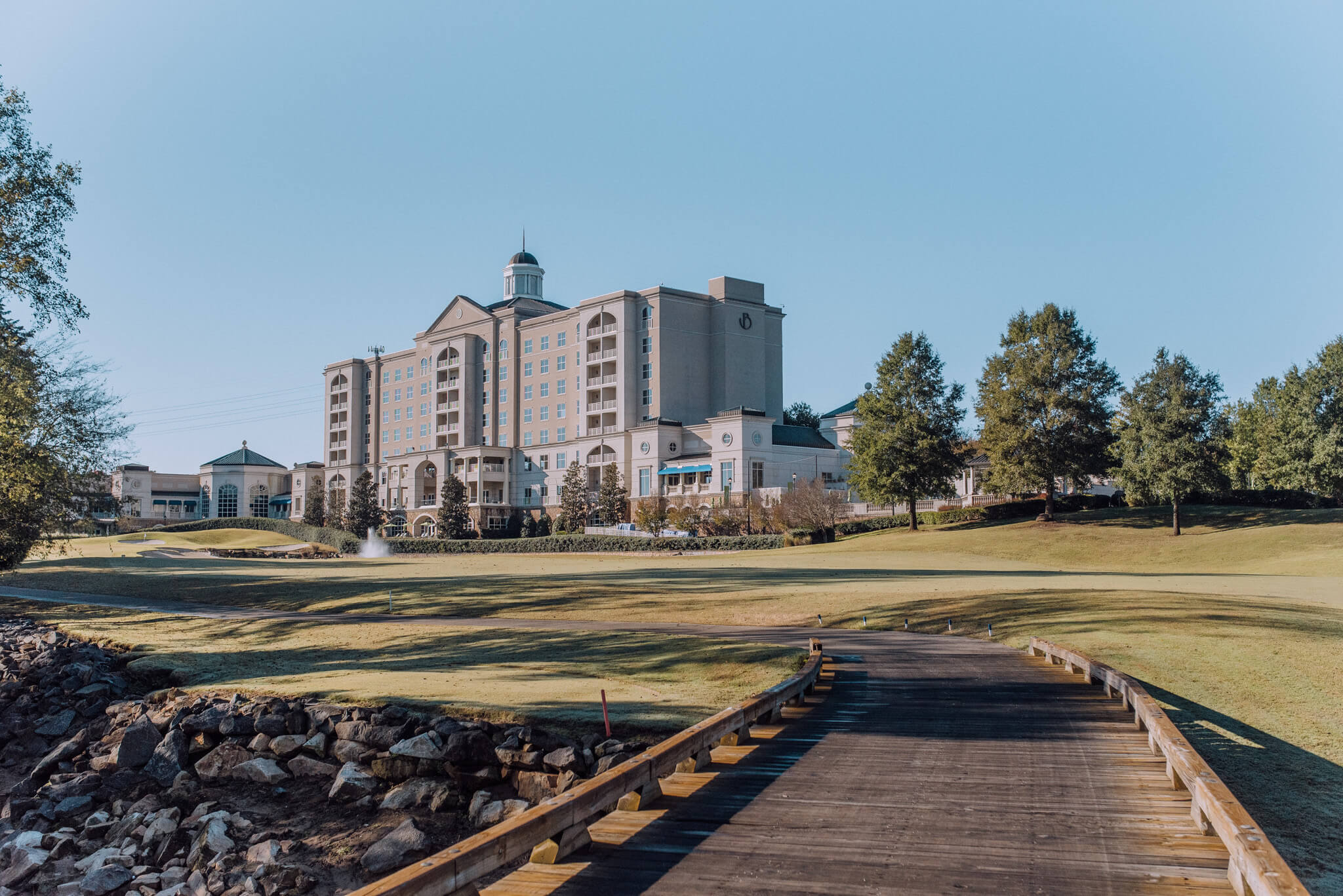 Impeccably maintained and spacious hotel grounds