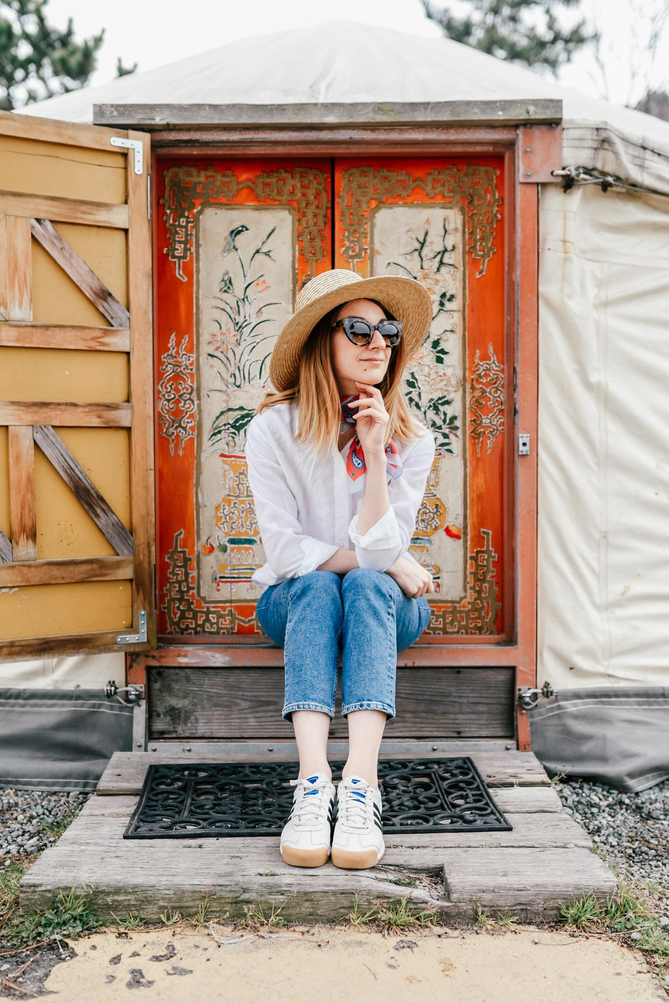 yurt naoshima door