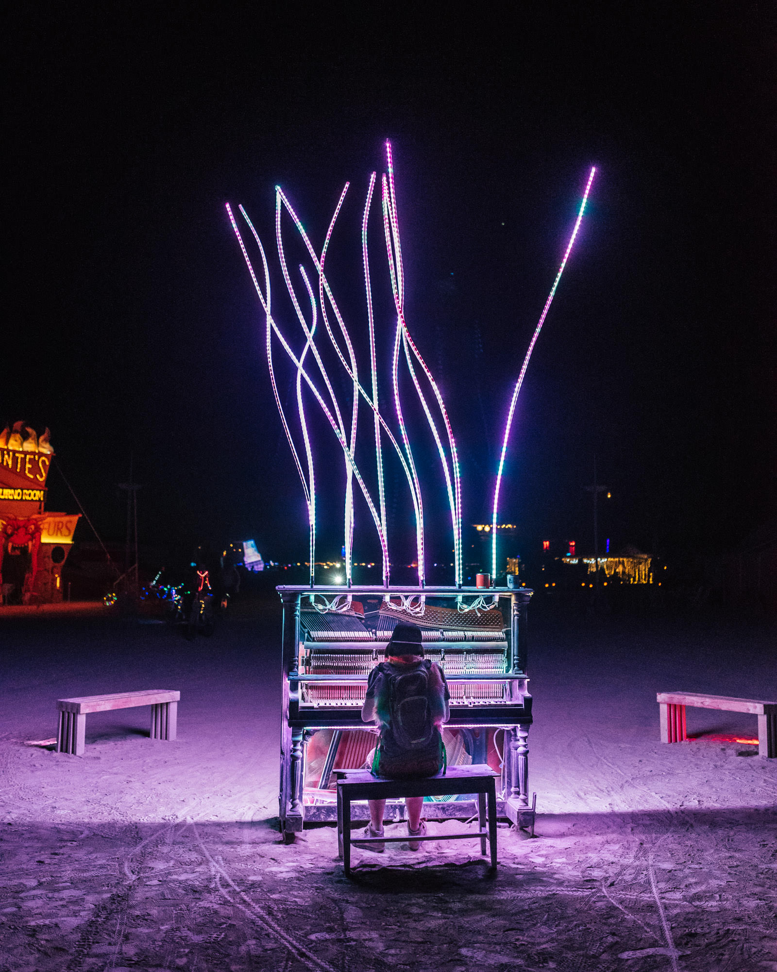 keys to the universe burning man piano