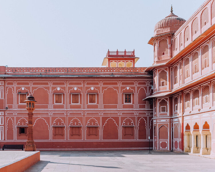 Jaipur City Palace Pink Wall