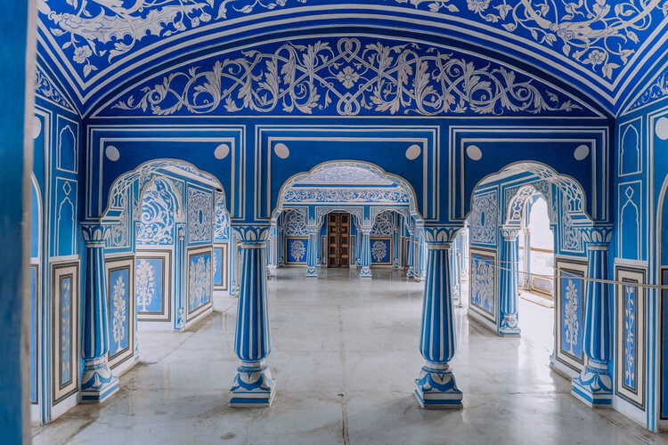 chandra mahal city palace blue room