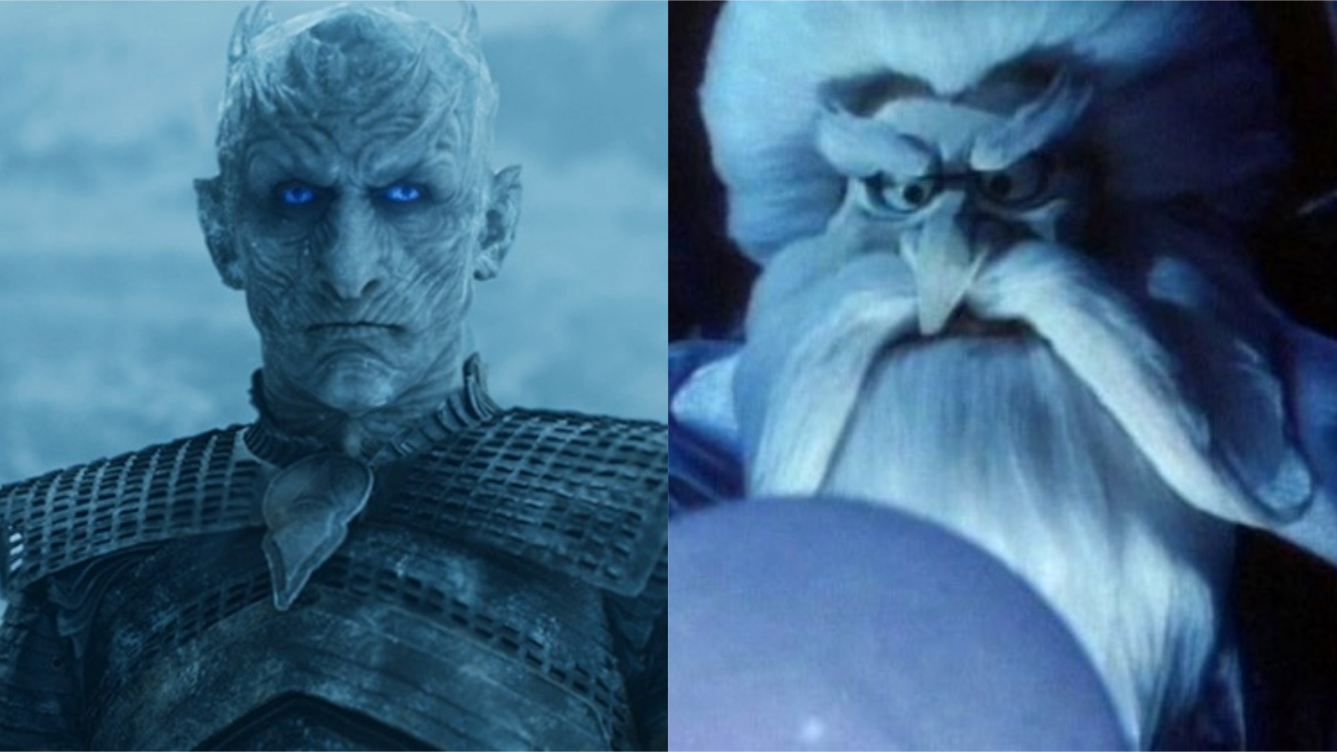 Night King (Pictured Right) and Winterbolt (Left) via HBO and Warner Brothers.
