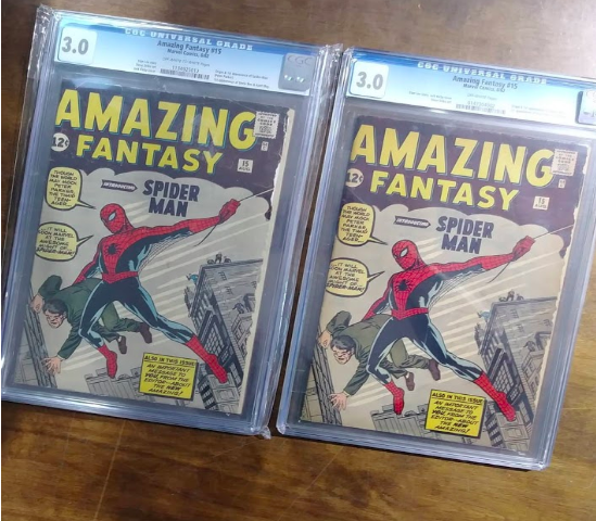 A Spider-Man comic for sale at Farpoint.   Photo credit : Penelope Daniels