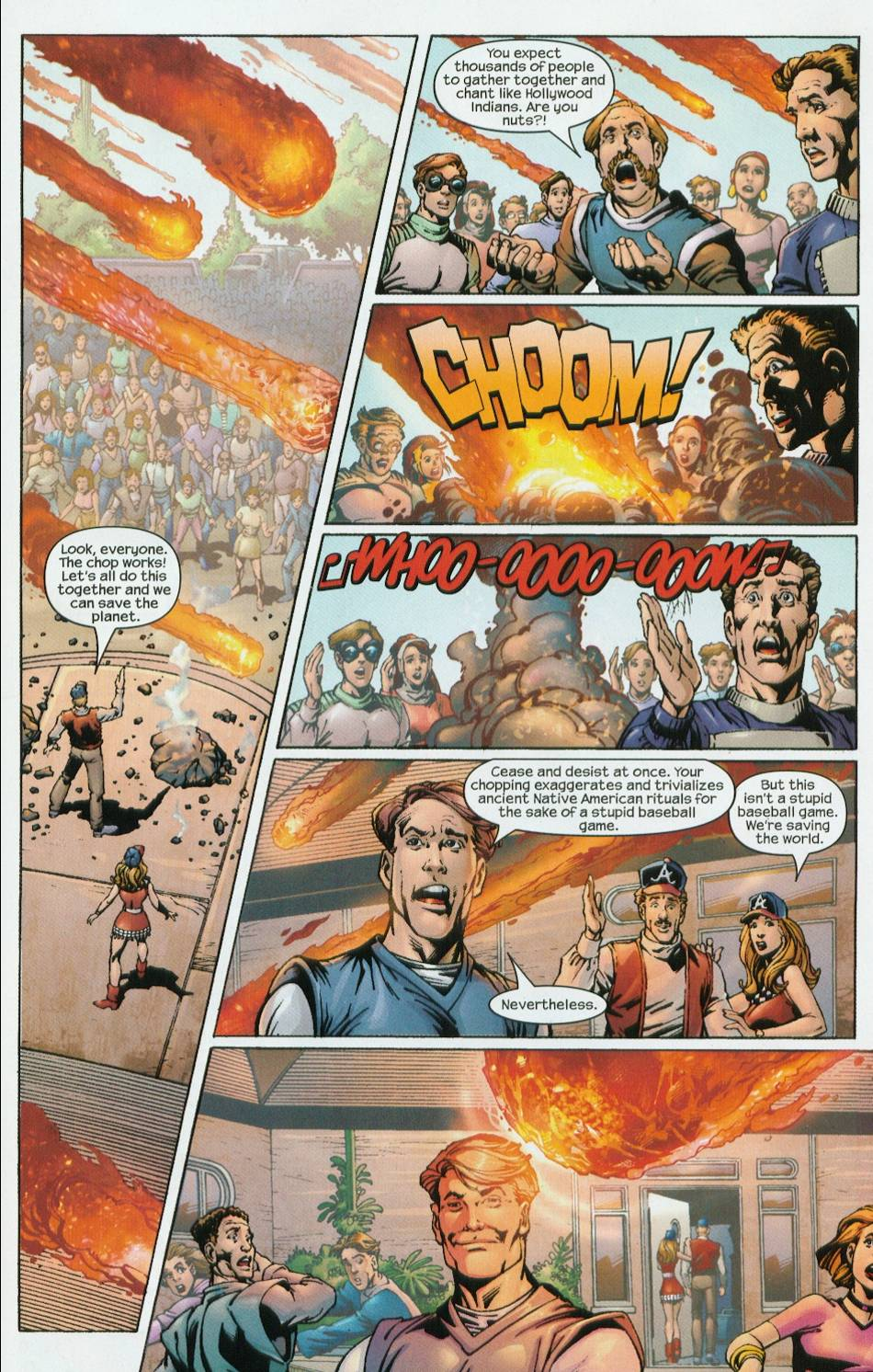 All the comedy of the early 90s, packed into a comic from 2002. Urrrgh.