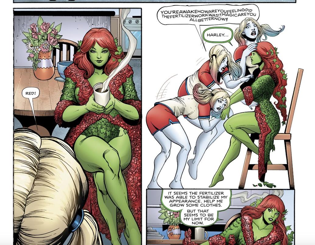 Poison ivy harley quinn comics