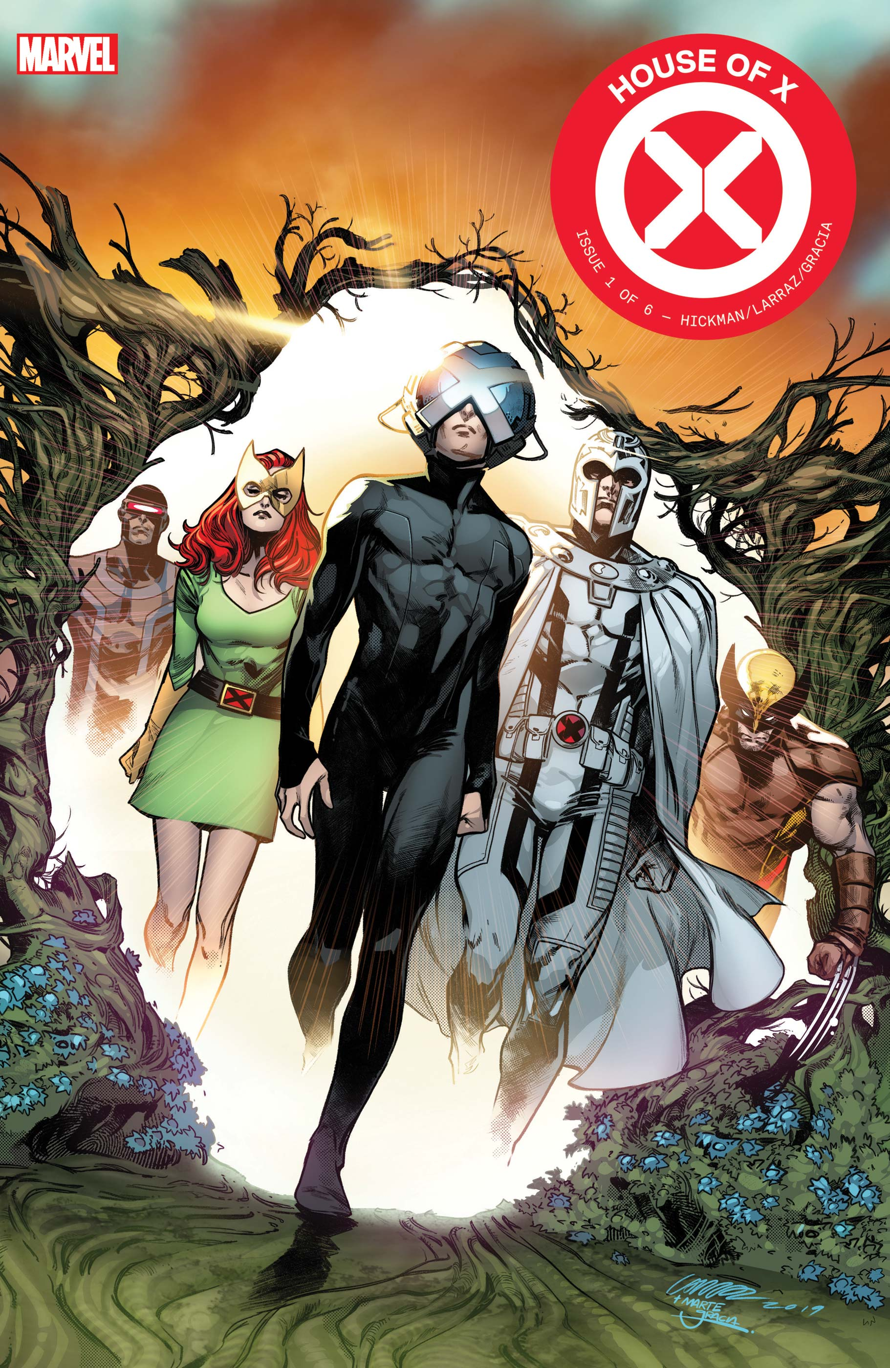 House of X #1 cover by Pepe Larraz and Marte Gracia