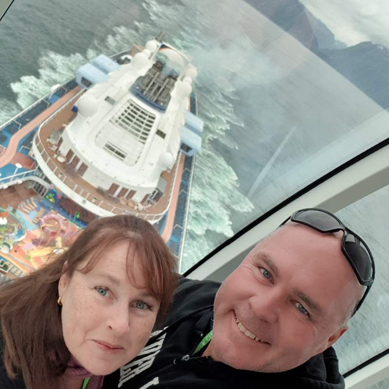 A view from the North Star on the Ovation of the Seas.