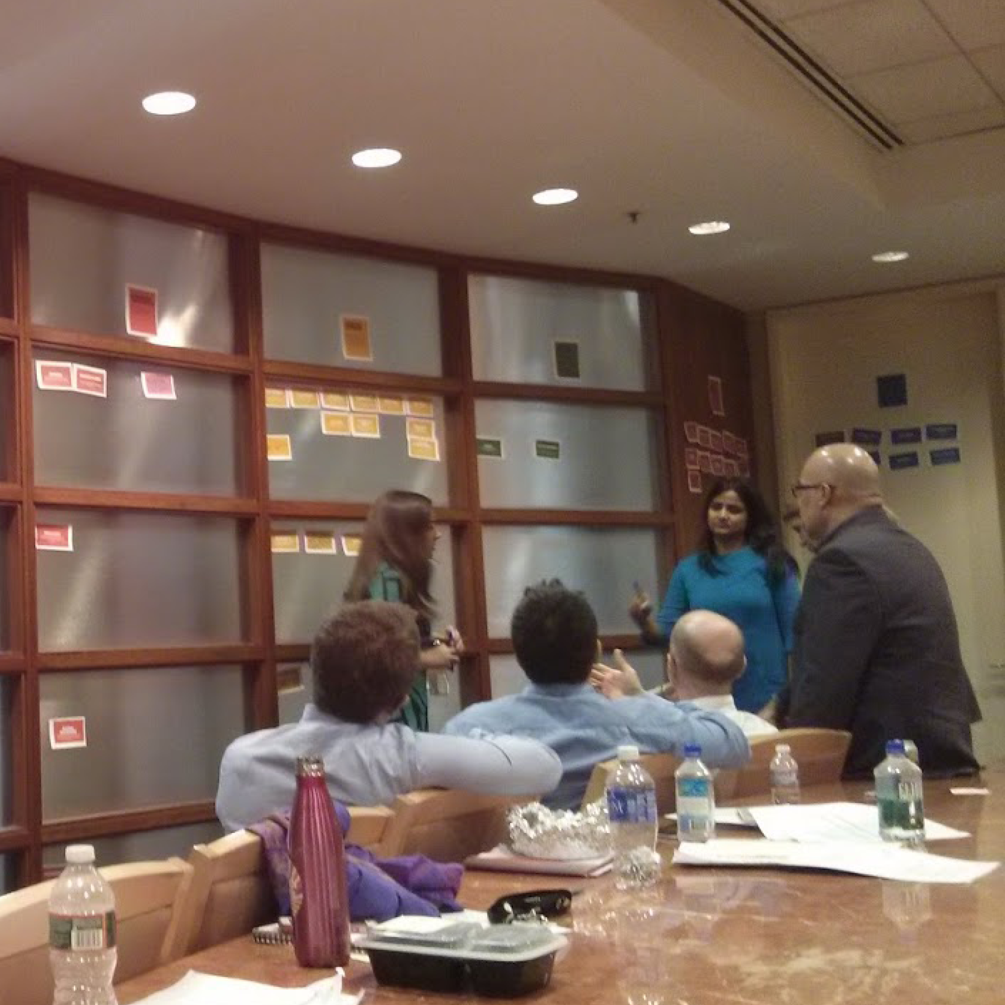 User story prioritization session at Lincoln Center