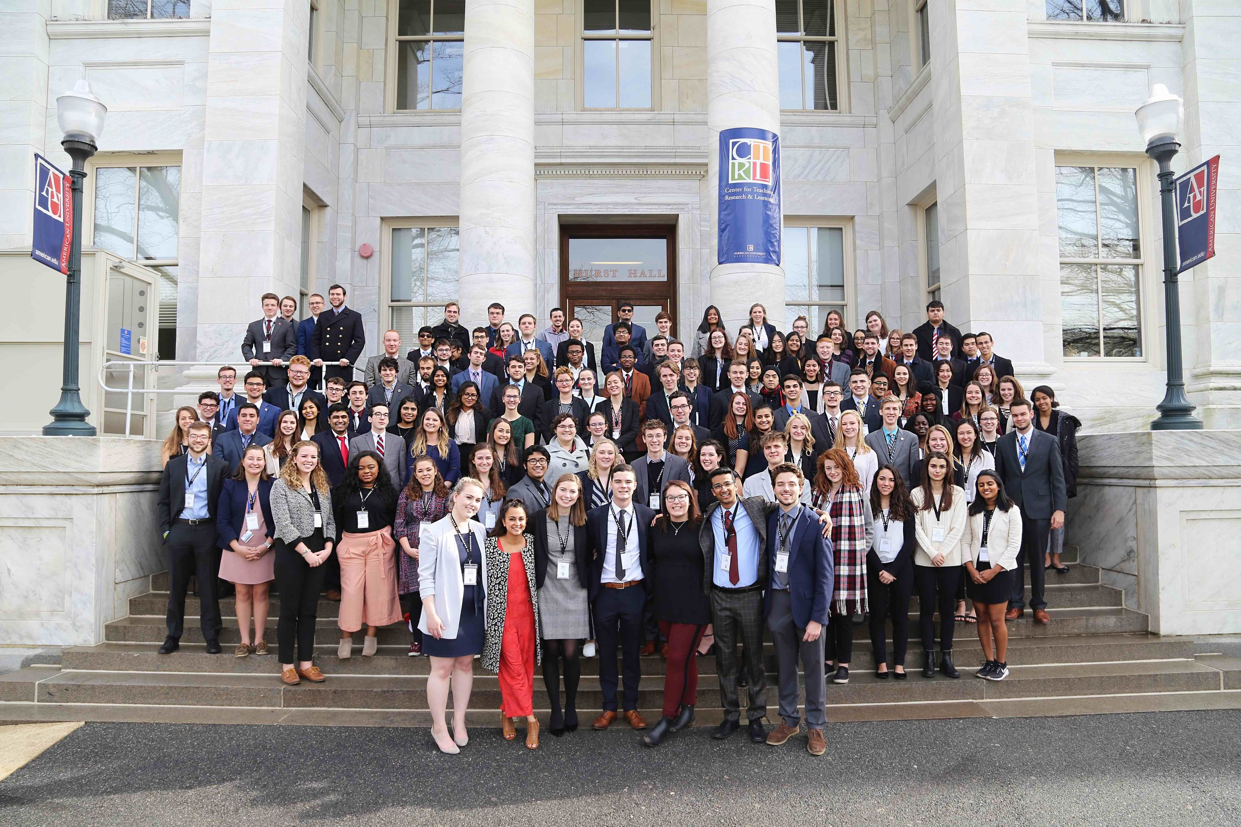 The Amerimunc staff  mADE UP OVER 180 AU STUDENTS FROM 30 MAJORS