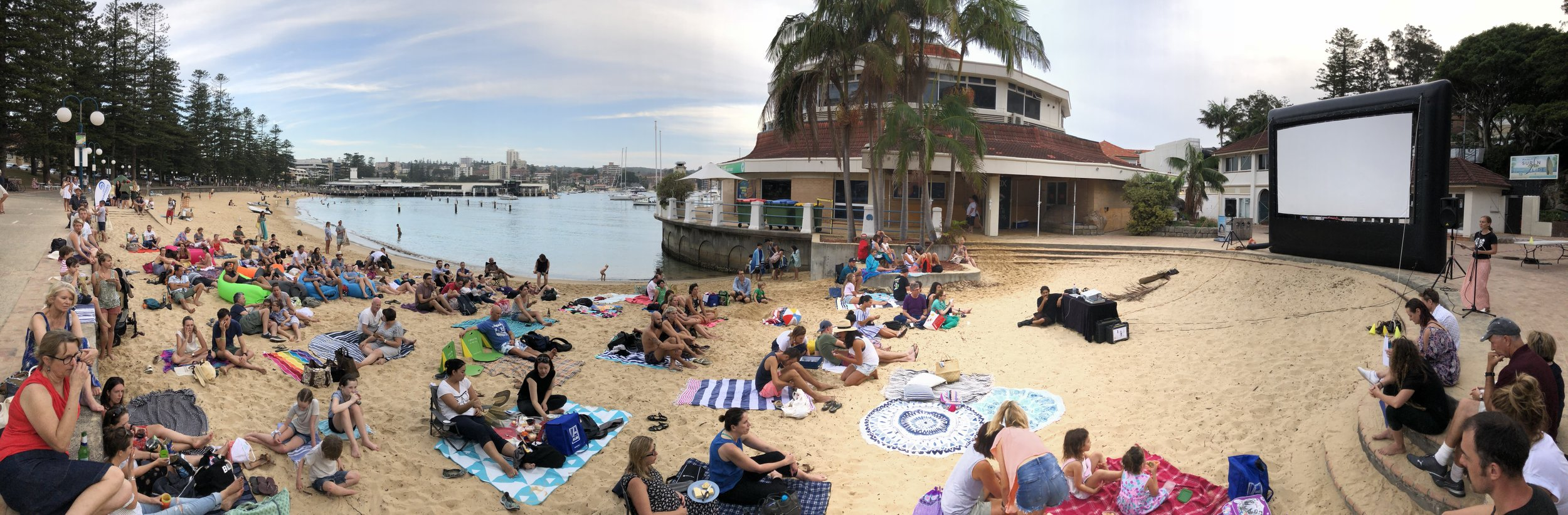 Outdoor screening of Chasing Coral as we say farewell to Manly Sea Life Sanctuary
