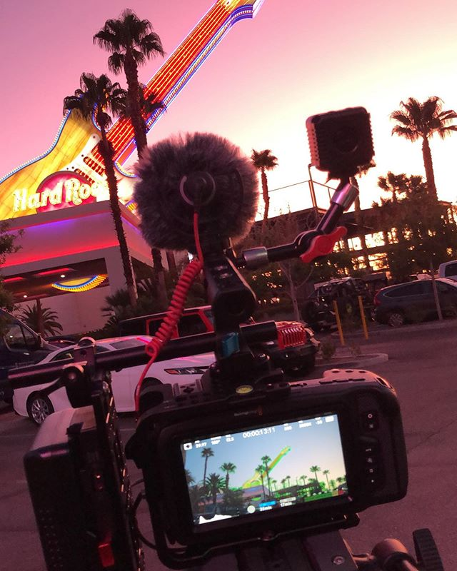 || Morning View || No filter. • • • • • #sunrise #hardrockhotellv #lasvegas #vegas #goldenhour #bmpcc4k #kondorblue #rodemicro #manfrotto