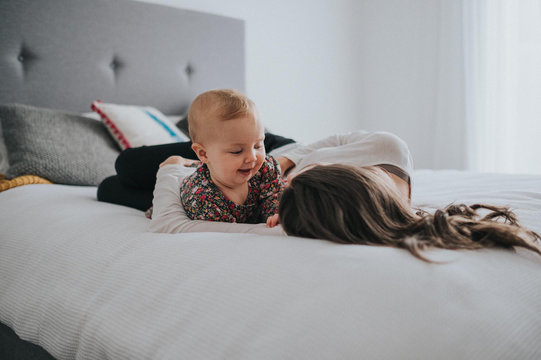 Snuggles with mum
