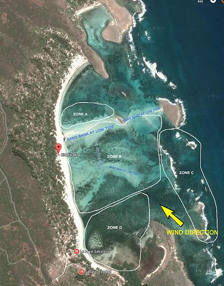 kitesurf madagascar sakalava diego kite hotel - map