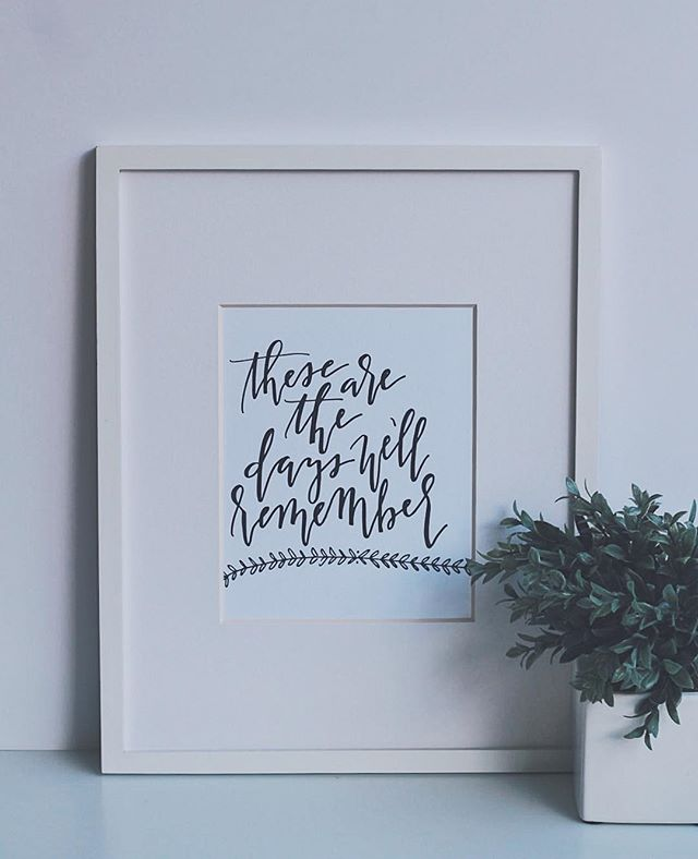 """Another one of our 8"""" x 10"""" prints! We love the idea of framing our prints for a unique Christmas gift! They add so much personality to a home or office space! Since they are all the same size, you can also interchange them at different times because if you're like us, you like the switch up the home decor on a regular basis! 🌿"""