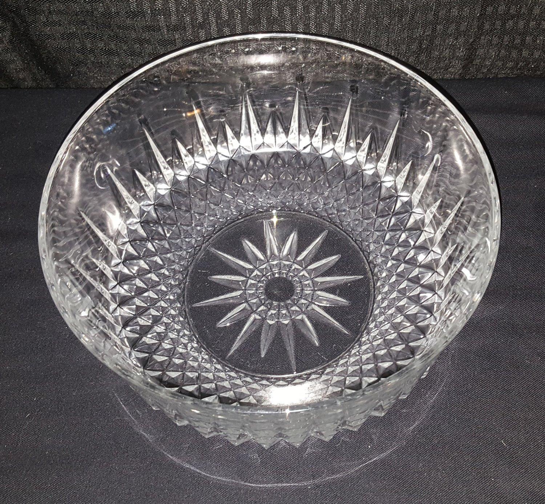 Arcoroc France Clear Starburst Cut Glass Bowl