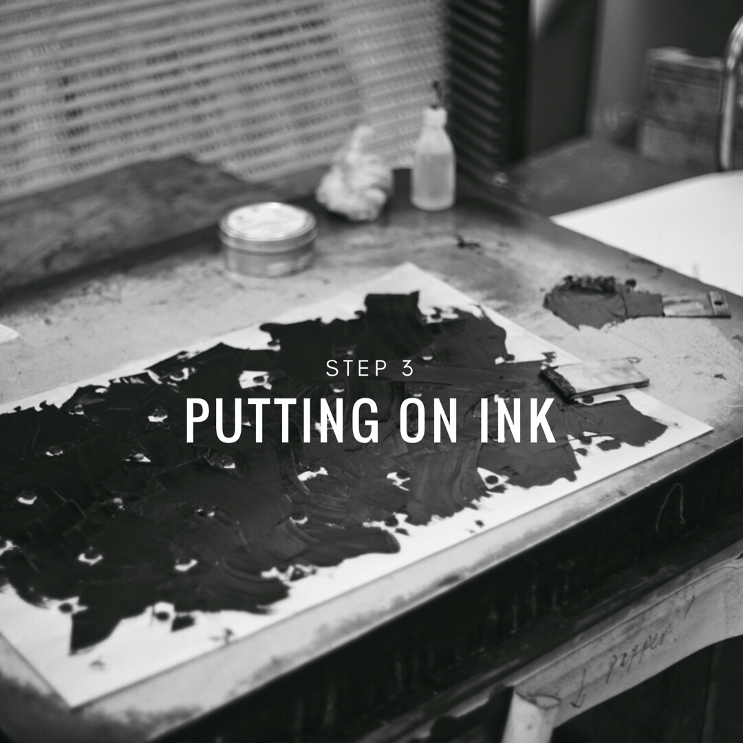 Printing a collagraph - step 3