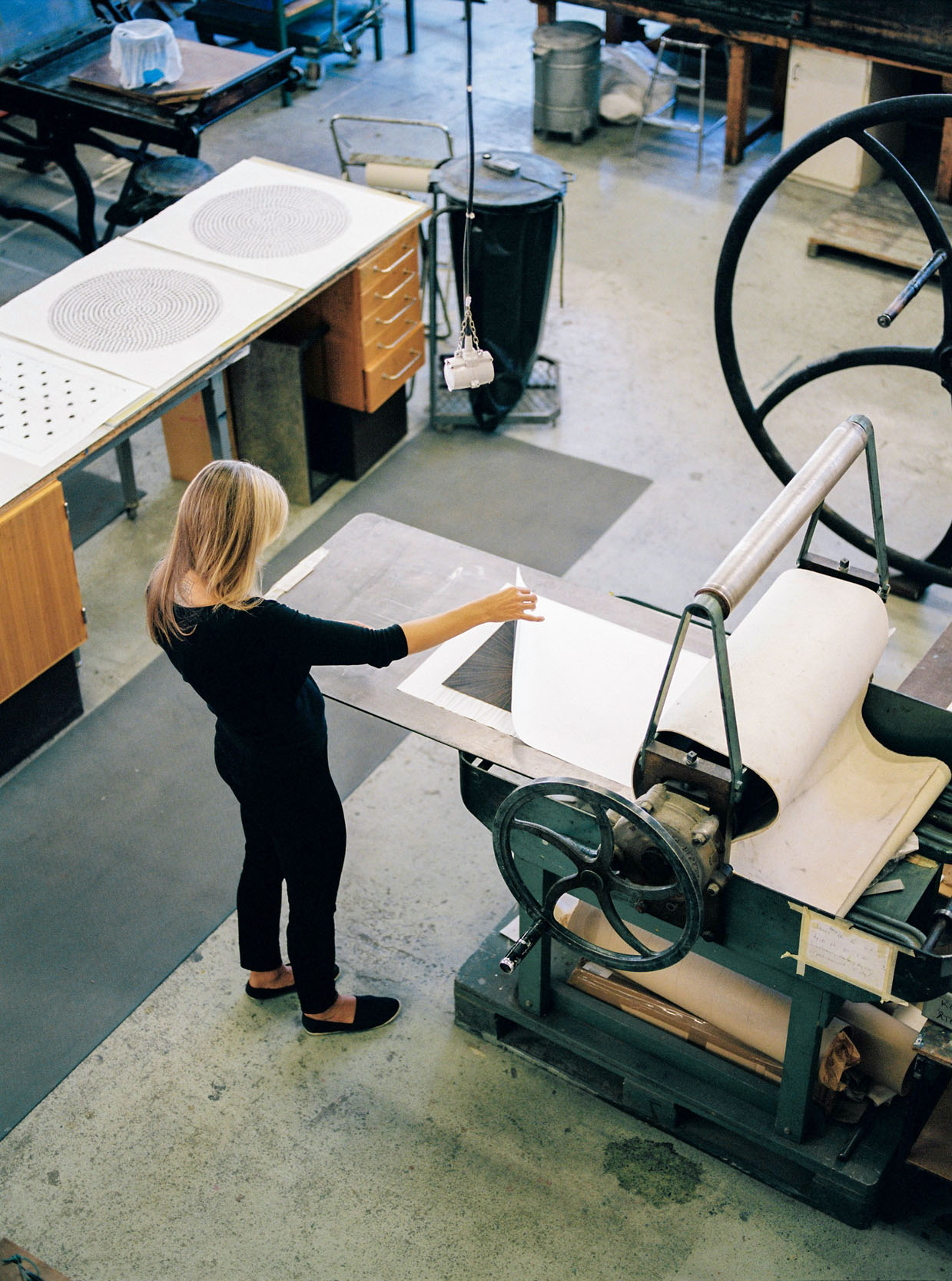 Using the press for a collagraph print