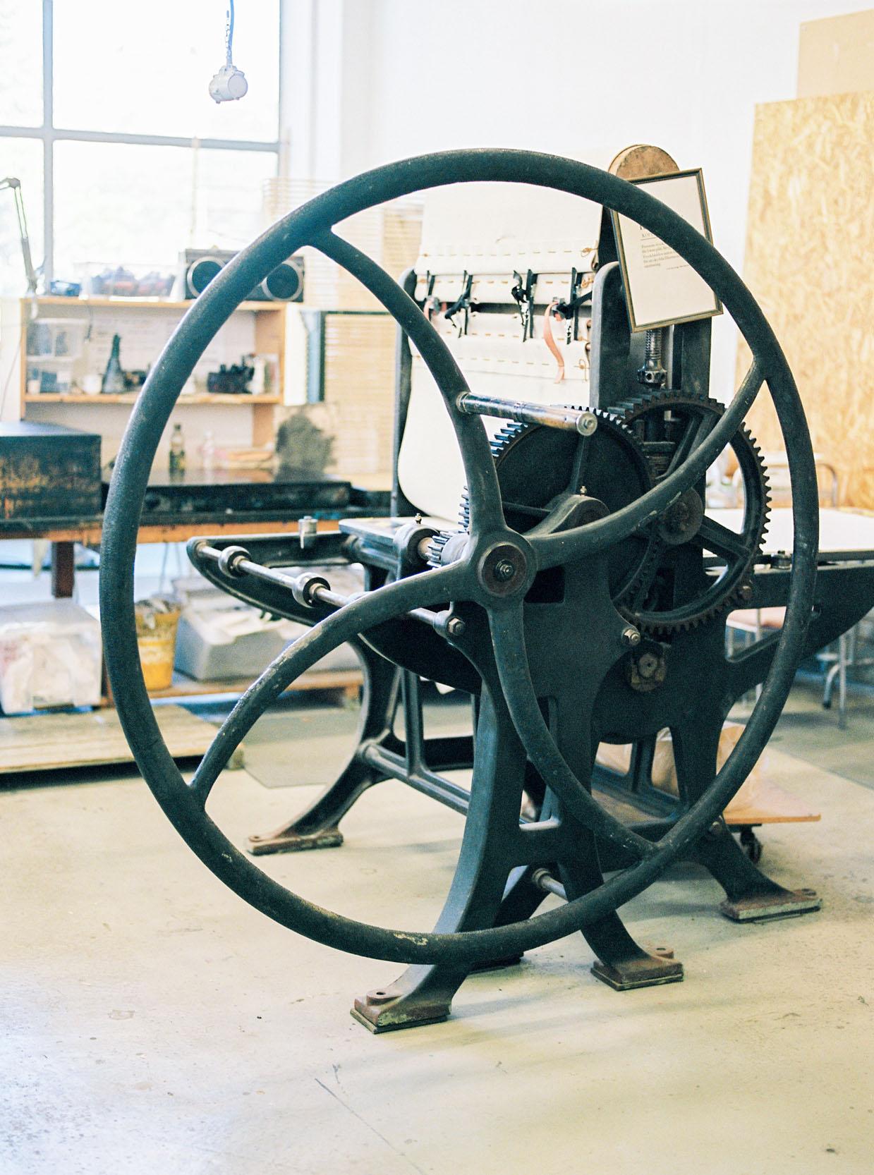 Step inside my printmaking workshop