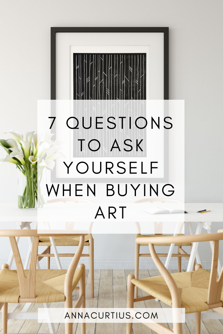 7 questions to ask yourself when buying art