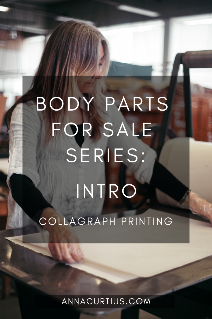 Collagraph Printmaking - Body Parts for Sale Intro