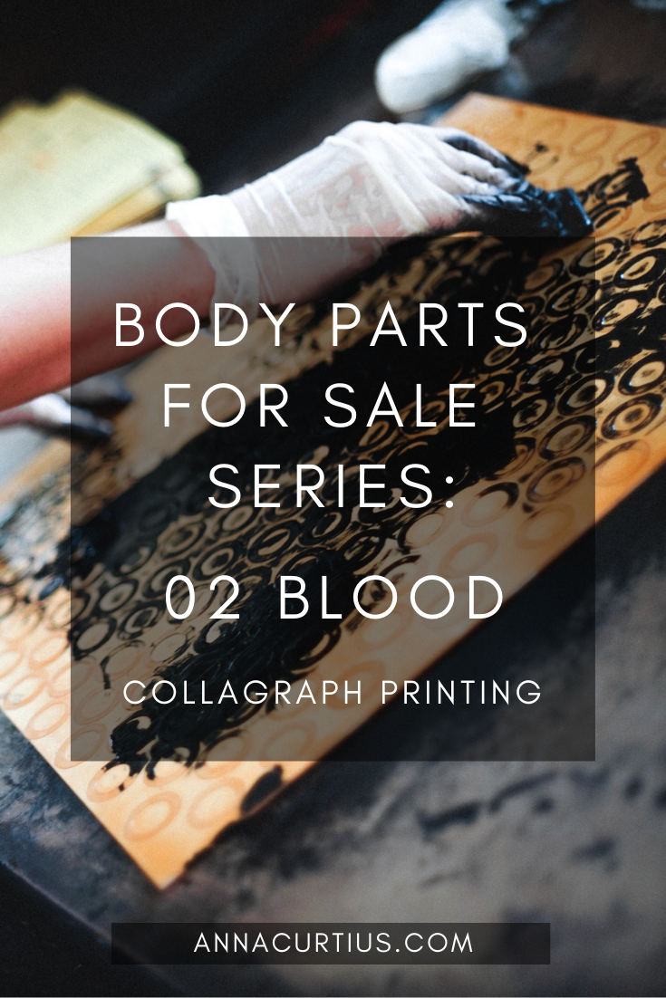 Collagraph Printing - Body Parts for Sale - 02 Blood
