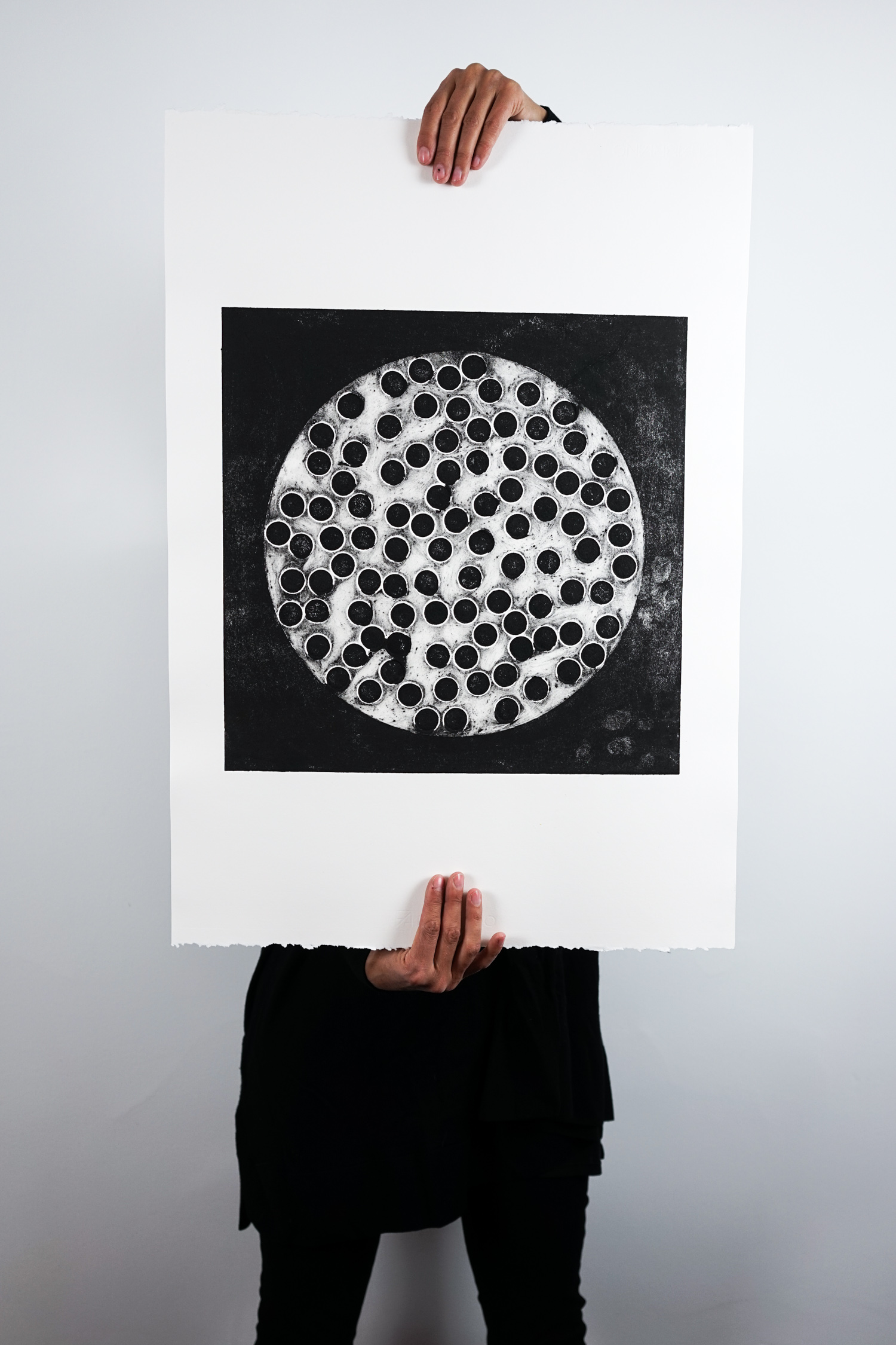 Collagraphy Print - Body Parts for Sale - 06 Eggs