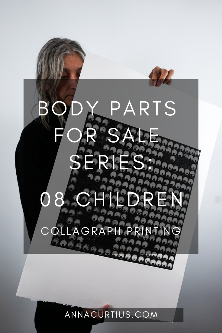 Collagraph Printing - Body Parts for Sale - 08 Children