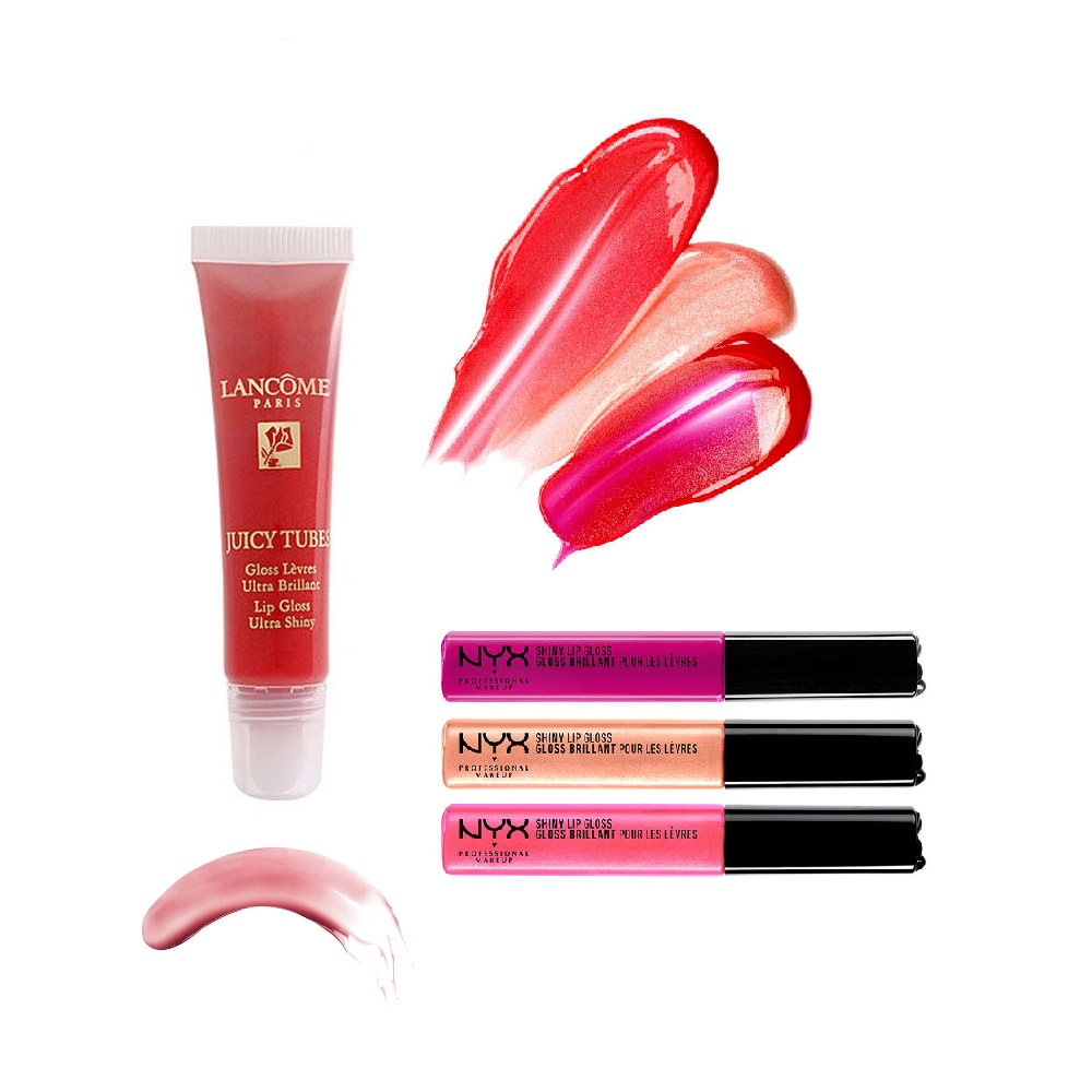 Lip Glosses - These products might look pretty, but I've never tempted enough to spend my money on them. When I think about lip glosses, the sticky feeling and the shiny/oily look on the lips just make go like,