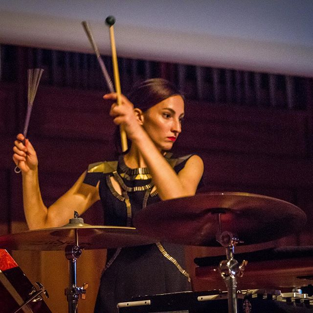 We are so lucky to be joined by our first ever guest musician - percussionist @kayliemelville for our concert tomorrow evening - May 14 at 6pm! We also extend our warm congratulations to Kaylie for her recently announced new position as Artistic Associate for Speak Percussion. We can't wait to perform Michelle Lou's 'untitled three part construction' with you at @melbrecital tomorrow, Kaylie! . . . . . #ossicle #duo #melbourne #contemporary #music #recital #percussion #music #bassdrum #cymbal #triangle #practising #recording