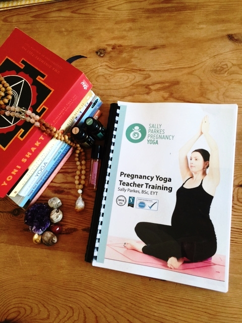 I had been thinking about doing this Pregnancy Yoga course for a year, I don't know why I delayed one of the best decisions I have ever made. I guess it all about timing and trusting things happen for a reason.  I signed up to Sally Parkes course as I had already had the pleasure of meeting Sally, when I took my little boy along to Mother and Baby classes with her in Worthing. We loved every minute of the weekly classes and made some firm friends. This where the seed was sown for wanting to become a Pregnancy/Mama and Baby yoga teacher.  The training is a 85 hour certified course which runs over 6 days. The first weekend we concentrated on Pregnancy yoga, covering many aspects from breathing exercises, the anatomy and physiology, symptoms and ailments encountered in pregnancy and suitable/unsuitable asanas during pregnancy. The second weekend covered Postnatal & Mother & Baby yoga and the business side of setting up classes,plus many opportunities for any questions or reflections we had. I particularly enjoyed the elements where we explored and embodied the chakras, mudras,bandhas, relaxation/yoga nidra and pelvic floor exercises.  We had a great group of ladies on the course, all of which supported each other as we had to teach our own pregnancy yoga sequence to the class which although completely nerve wracking was such a positive experience, and really instilled so much confidence in what I had been learning.  The days covered so much information and were supported with guest speakers. It was so intensive, but I left feeling so excited about the opportunity of supporting other women during pregnancy and beyond... I feel so much gratitude having such an accomplished teacher as Sally, I really cannot rave enough about what an inspirational force this beauty is. She knows so much and has so much energy &passion for what she does it truly lights up the room.  Check out Sally Parkes website for further information on all of the courses and retreats that she offers: ht
