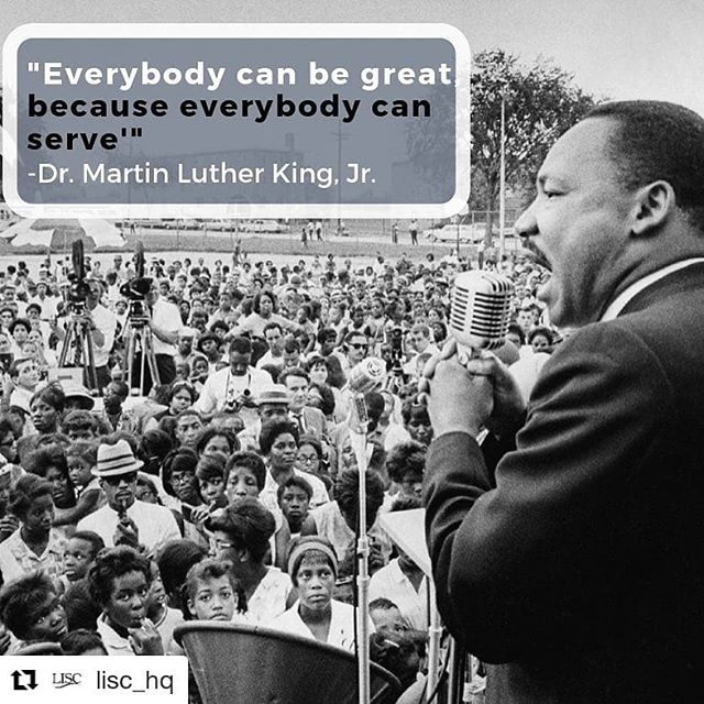 #Repost @lisc_hq ・・・ Honoring the extraordinary life of Dr. Martin Luther King, Jr. is a reminder to us all to keep our most important values front and center, every day of the year. Fifty years since his death and we still have a long way to go, but his message of equality, truth, justice, compassion, humility and courage motivate and propel us forward. #mlk #mlkday2019 #mlkday #ihaveadream #justice #equality #communitydevelopment #blacklivesmatter #martinlutherking #service