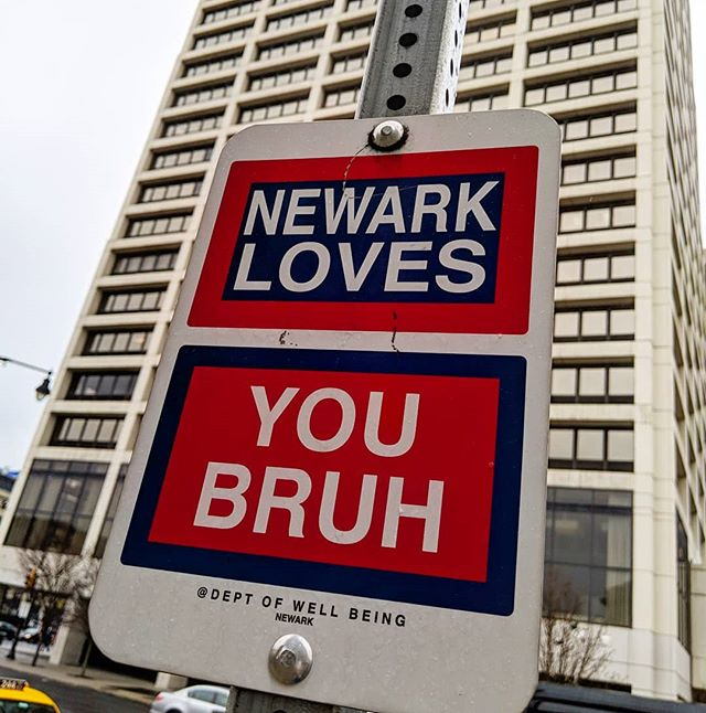 Thanks bruh. Love you back. . . . . . . . .  #Newark #NewarkNj #Jersey #NJ @deptofwellbeing #streetart #guerillaurbanism #signs #cities #art #psa #announcement