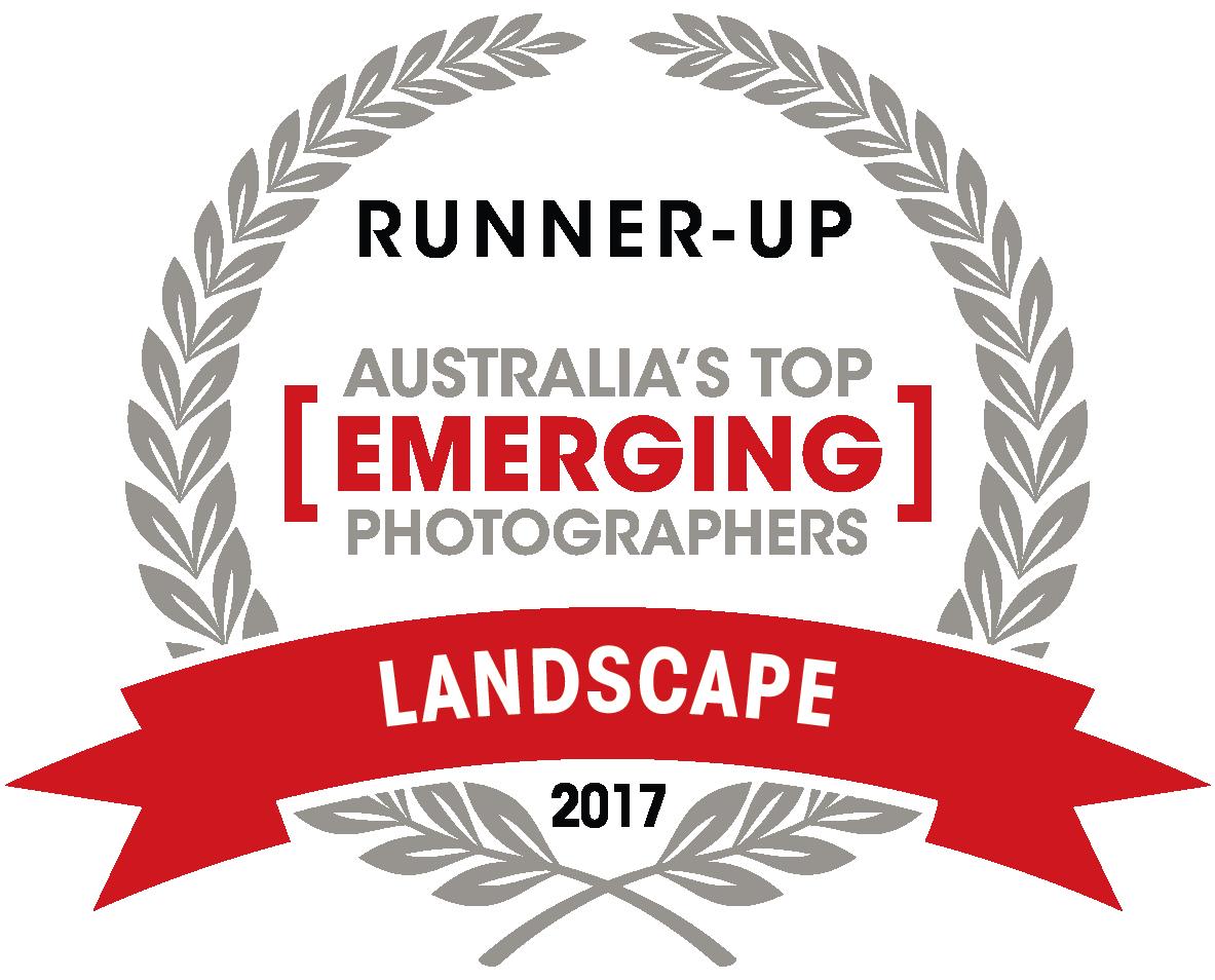 Capture Magazine's -   Australia's Top Emerging Photographers 2017.     2017 LANDSCAPE TOP 10.    -Runner up -  -9th Place-