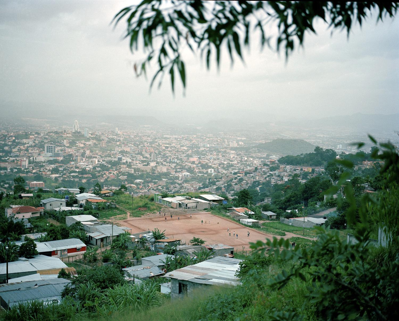 A soccer field in Tegucigalpa.